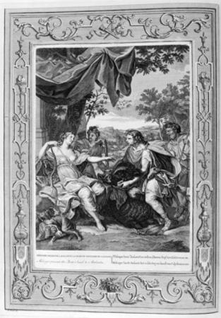 Meleager Presents the Boar's Head to Atalanta, 1733 by Bernard Picart