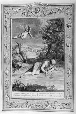 Narcissus in Love with His Own Reflection, 1733 by Bernard Picart