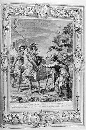 Phineus Is Delivered from the Harpies by Calais and Zethes, 1733 by Bernard Picart