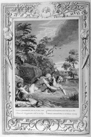 Salmacis and Hemaphroditus United in One Body, 1733 by Bernard Picart