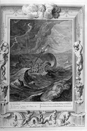 The Dioscuri (Castor and Pollu) Protect a Ship, 1733 by Bernard Picart