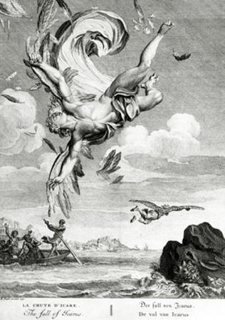 The Fall of Icarus, 1731 by Bernard Picart