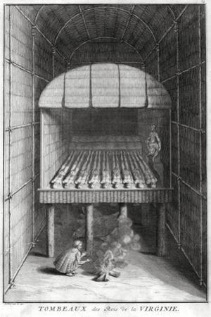 Tombs of the Virginian Kings, C1734 by Bernard Picart