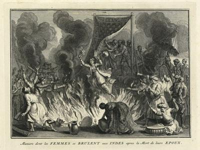 Widow Burning in India, 1728 by Bernard Picart