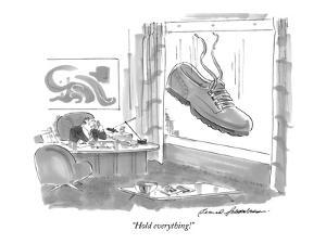 """""""Hold everything!"""" - New Yorker Cartoon by Bernard Schoenbaum"""