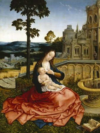 The Virgin and Child by a Fountain