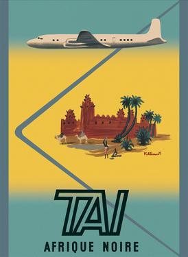 Afrique Noire (Sub-Saharan Africa) - TAI Airline by Bernard Villemot