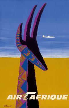 Air Afrique - Gazelle by Bernard Villemot