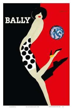 Bally Kick - Bally Shoes by Bernard Villemot