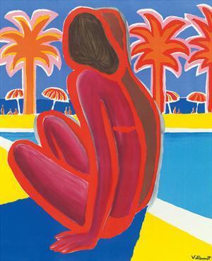 La Cote D'Azur c.1968 by Bernard Villemot
