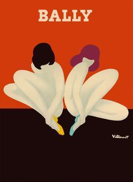 Lotus - Women Sitting Together - Bally Shoes by Bernard Villemot