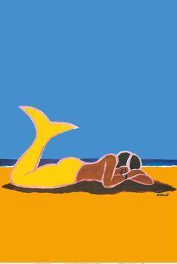 Mermaid Napping by Bernard Villemot