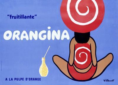 Orangina, Frutillante by Bernard Villemot