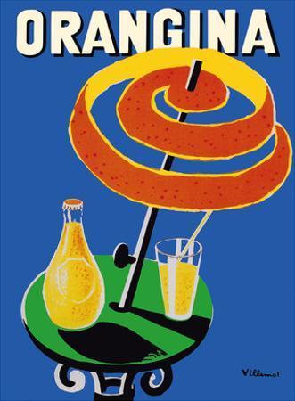 Orangina Sparkling Soda - Umbrella Ad by Bernard Villemot