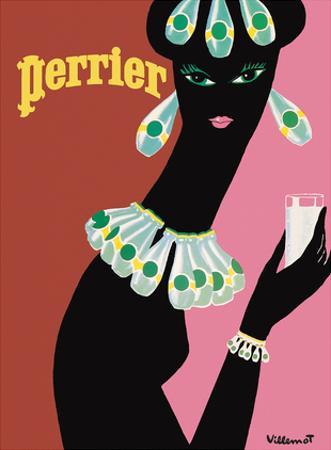 Perrier - La Femme Noir (Black Woman) by Bernard Villemot