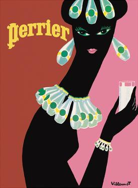 Perrier - La Femme Noir (Black Woman) by Bernard Villemot