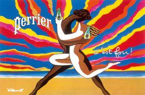 Perrier - The Dancing Couple (Le Couple Dansant) - This is Crazy! (C'est Fou!) by Bernard Villemot