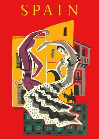 Spain - Flamenco Dancers by Bernard Villemot