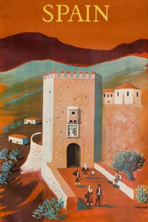 Spain Poster by Bernard Villemot