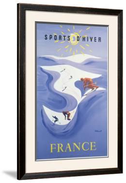Sport d'Hiver en France by Bernard Villemot