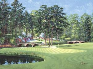 11th at Augusta, White Dogwood by Bernard Willington