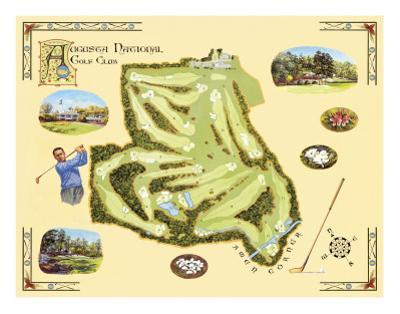 Golf Course Map, Augusta by Bernard Willington