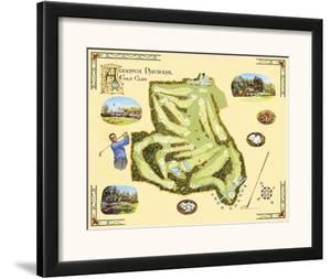 Golf Course Map, Augusta by Bernard Willington