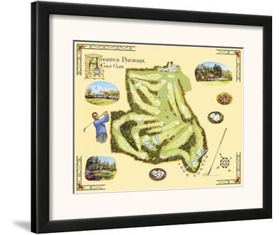 Golf Course Map, Augusta