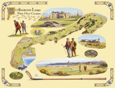 Golf Course Map, St. Andrews