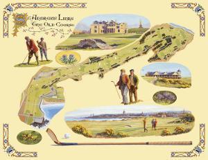 Golf Course Map, St. Andrews by Bernard Willington