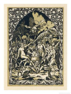 Guillemette Babin at the Sabbat Dances with Demons Performing with Them Acts by Bernard Zuber
