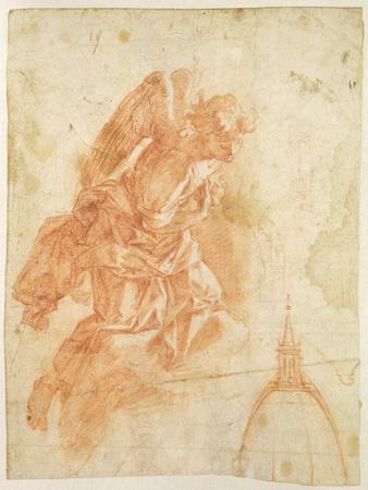 Suspended Angel and Architectural Sketch, c.1600