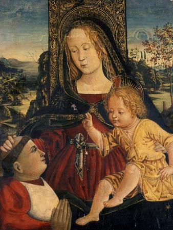 Madonna and Child with a Cardinal as a Benefactor, C.1500