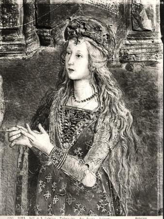 St. Catherine, Possibly a Portrait of Lucrezia Borgia (1480-1519) from the Lives of the Saints
