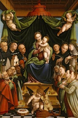 Madonna and Child Enthroned with Saints and Donors, 1552 by Bernardino Lanino