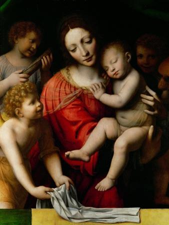 Le sommeil de lenfant Jesus-the sleep of the Child Jesus; prefiguration of the Passion by Bernardino Luini