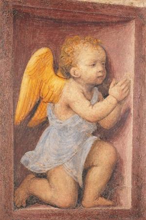Little angel worshipping
