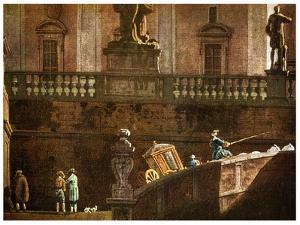 A Coach in Rome, 18th Century by Bernardo Bellotto