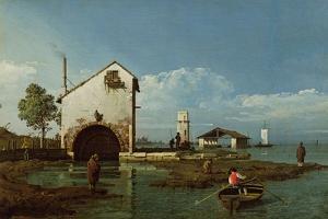Capriccio, the Lagoon by Bernardo Bellotto