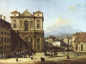 Freyung Square from North-East, Vienna by Bernardo Bellotto