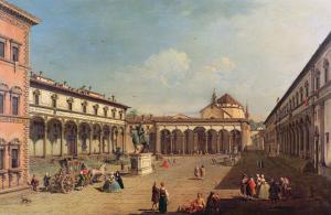 Piazza Della Santissima Annunziata, Florence by Bernardo Bellotto