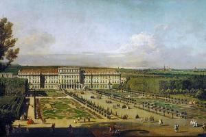 Schönbrunn Palace Viewed from the Gardens, Between 1758 and 1761 by Bernardo Bellotto