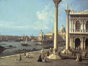 The Bacino Di San Marco and the Church of Santa Maria Della Salute, Venice, from the Piazzetta by Bernardo Bellotto