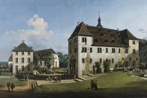 The Fortress of Konigstein: Courtyard with the Magdalenenburg, 1756-58 by Bernardo Bellotto