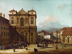 The Freyung Iin Vienna, from the Northwest, Between 1758 and 1761 by Bernardo Bellotto