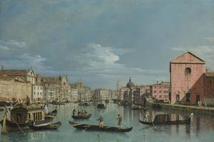 Venice, Upper Reaches of the Grand Canal Facing Santa Croce, 1740s by Bernardo Bellotto