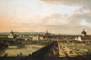 Vienna Viewed from the Belvedere Palace, 1759-1760 by Bernardo Bellotto