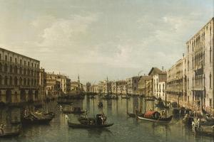 View of Grand Canal with the Palazzi Foscari and Moro Lin by Bernardo Bellotto