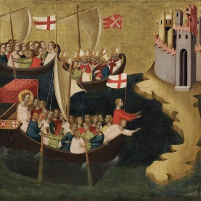 Arrival of Saint Ursula at Cologne, c.1333 by Bernardo Daddi