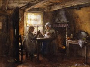 A Quiet Afternoon by Bernardus Johannes Blommers or Bloomers